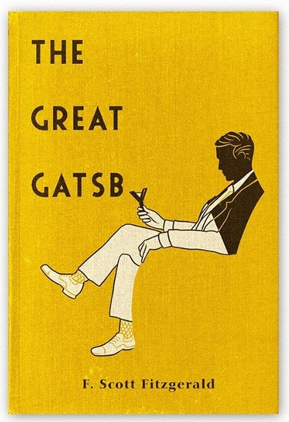 "The brilliant art deco style cover design of ""The Great Gatsby"" by Aled Lewis."