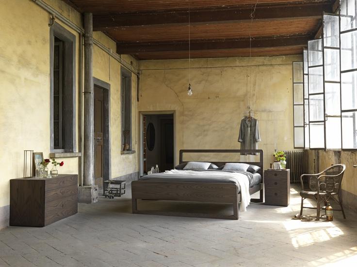 Feel bed. Italian design furniture, shoot in historical home Villa Chiesa in Brianza - Italy