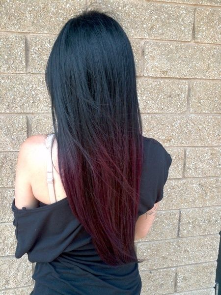 Ombre Hairstyles: red bottom