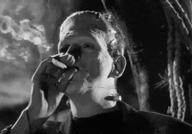 "Retro Art Blog on Twitter: ""Karloff smoked in every film he's in. It was a rider in his contract.  #svengoolie #BlackFriday https://t.co/egXDNBlteo"""