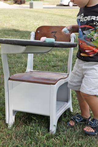 Antique School Desk Chair
