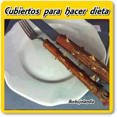 Cubiertos para hacer dieta. http://www.gorditosenlucha.com/
