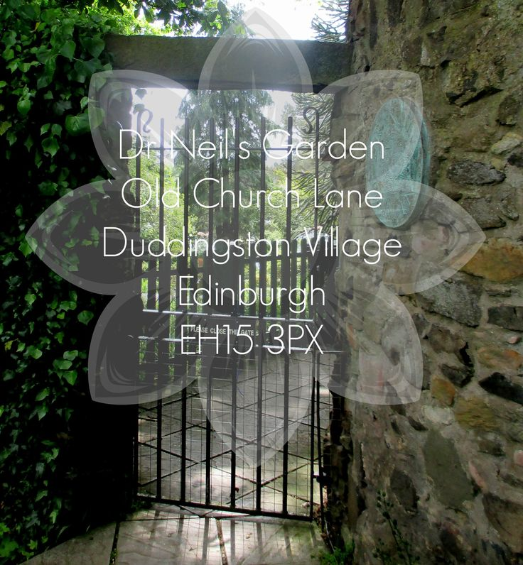 The gate from the church into the garden.