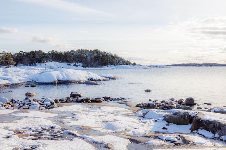 Porkkakanniemi lumisateen jälkeen Photo: Paula Mikkonen