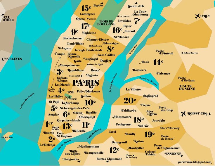 Paris vs New York, a tally of two cities: the map (Paris in NY)!