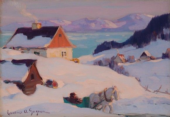 Gagnon Painting - Les Eboulements, Winter C. 1920