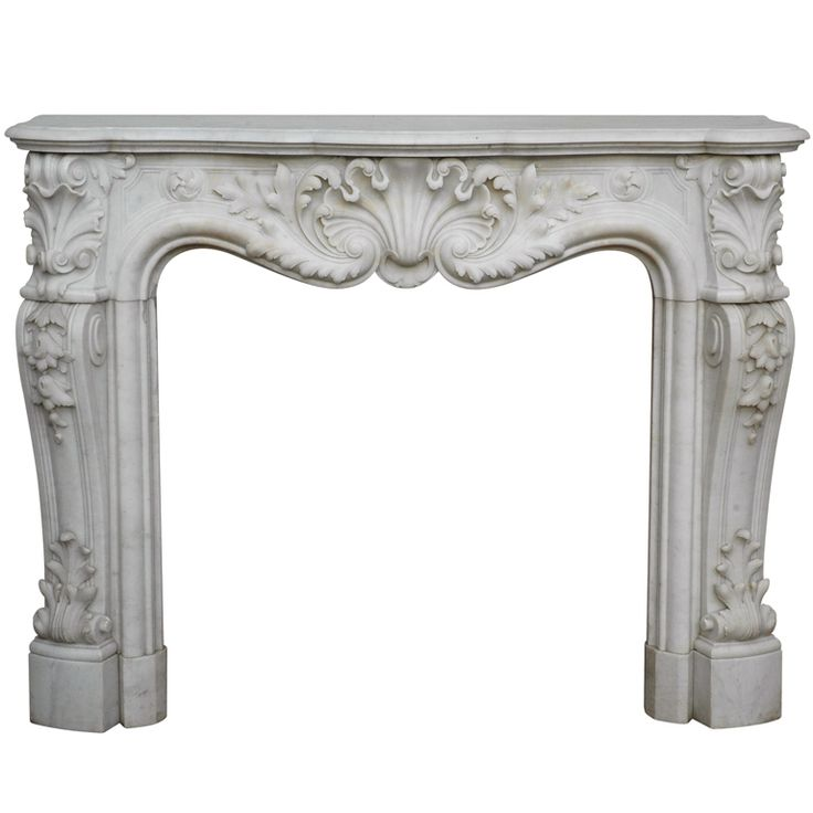 Louis XV Style Fireplace in Carrara Marble, Period 19th century | From a unique collection of antique and modern fireplaces and mantels at https://www.1stdibs.com/furniture/building-garden/fireplaces-mantels/