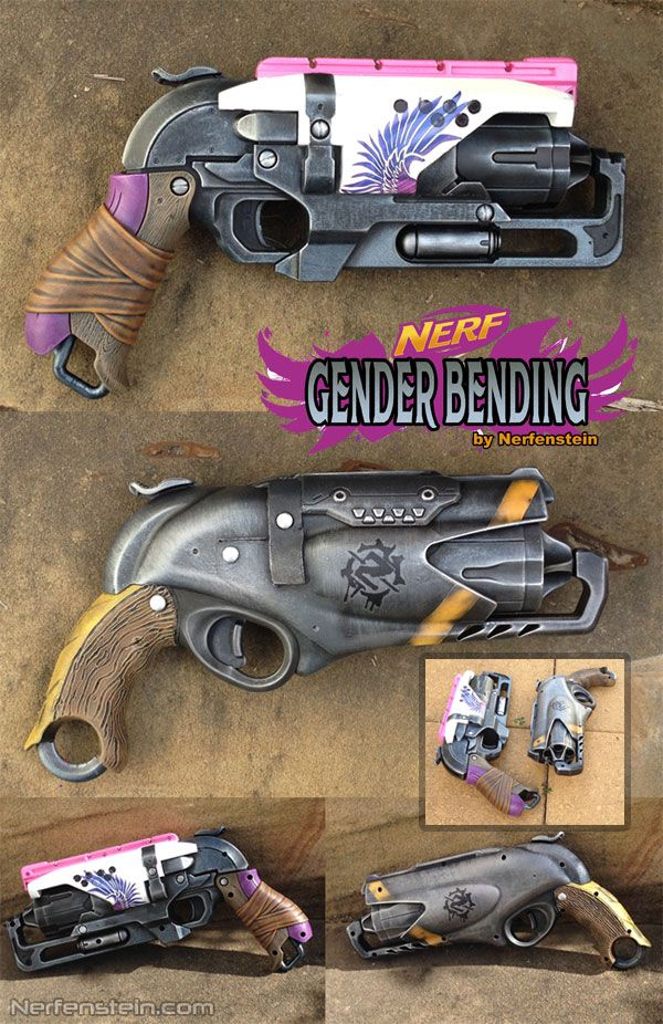 Gender Bending Nerf Rebelle Hammershot Weapon Mods Painted The