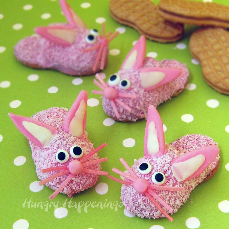 @HungryHappenings  Turn Pink Fuzzy Slipper Cookies into Bunny Slipper Cookies for Easter! what?