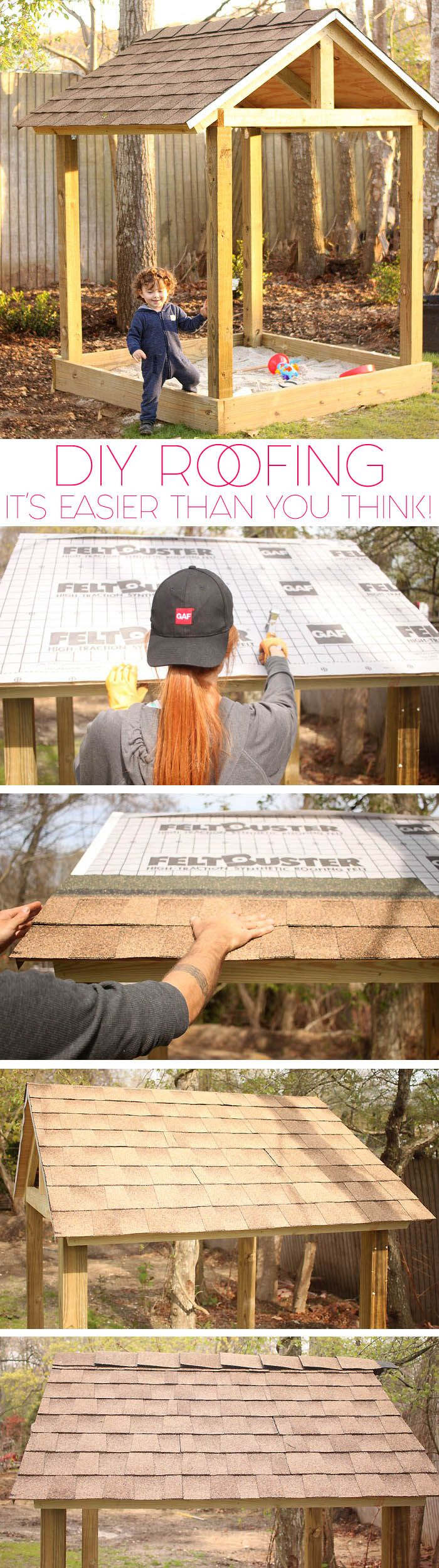 Learn how to do DIY Roofing on a small structure with Timberline® shingles! #RoofedItMyself #ad