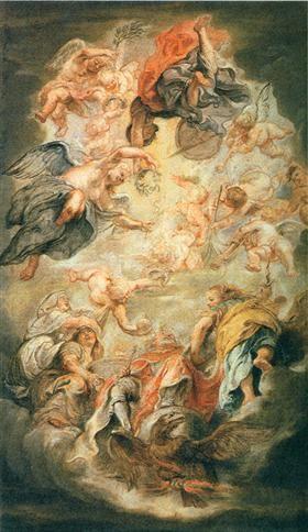 Apotheosis of King James I - Peter Paul Rubens