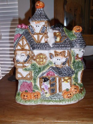 fitz and floyd 1993 haunted house cookie jar