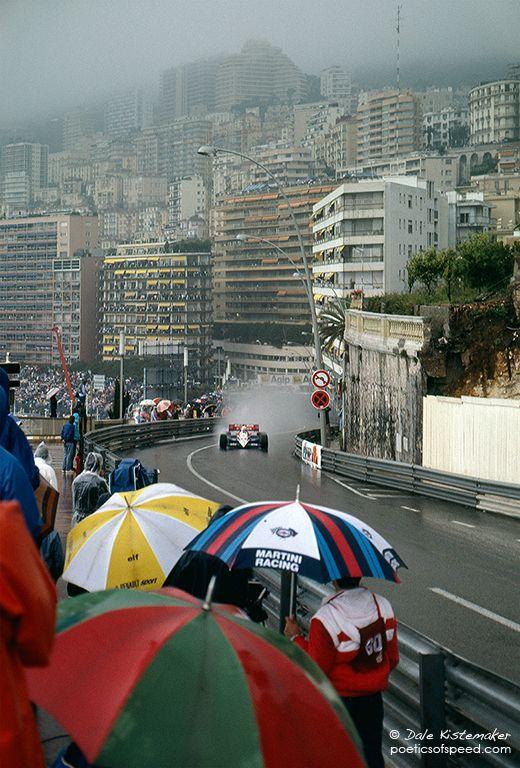 1984 MONACO GRAND PRIX - Driver: Ayrton Senna. Constructor: Toleman-Hart. Finished: 2nd o/a.