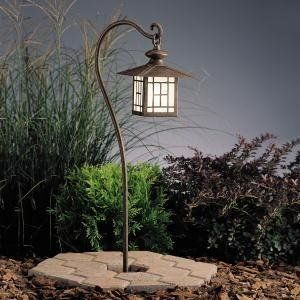Kichler Lighting 15319PZ Mission Lantern 1-Light 12-Volt Landscape Path & Spread Light, Patina Bronze with Satin-Etched Glass by Kichler. Save 23 Off!. $248.00. From the Manufacturer                The Kichler Lighting 15319PZ Mission Lantern Low Voltage Landscape Path and Spread Light is designed to be noticed. This California Mission style with frosted glass coordinates with contemporary, craftsman or Southwest architecture and is perfect for accent lighting or for along a path. Made of…