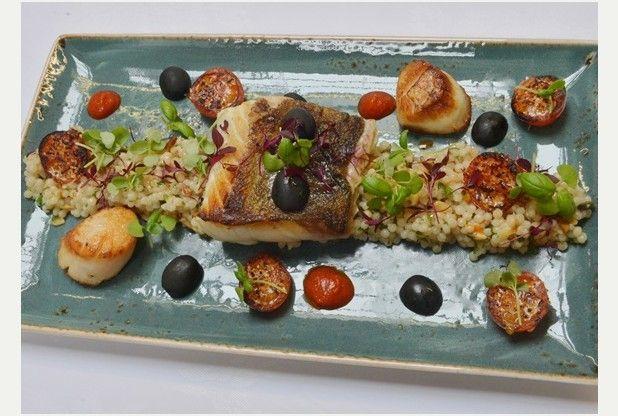 Recipe: Cod, fregola and scallops