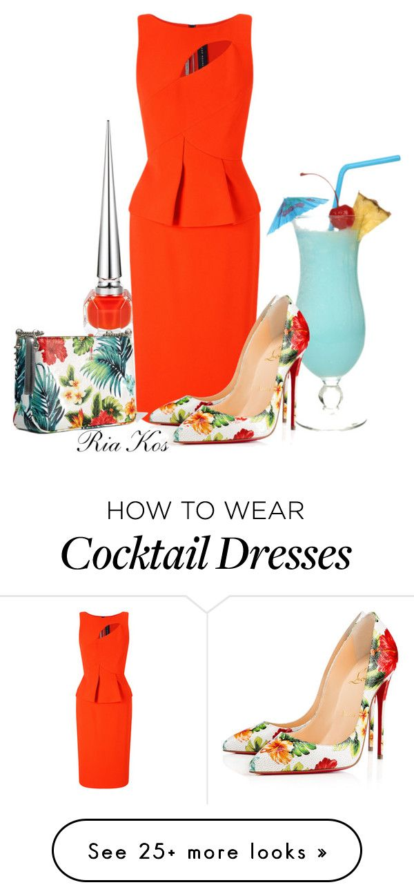 """""""sunset in hawaii"""" by ria-kos on Polyvore featuring Roland Mouret and Christian Louboutin"""