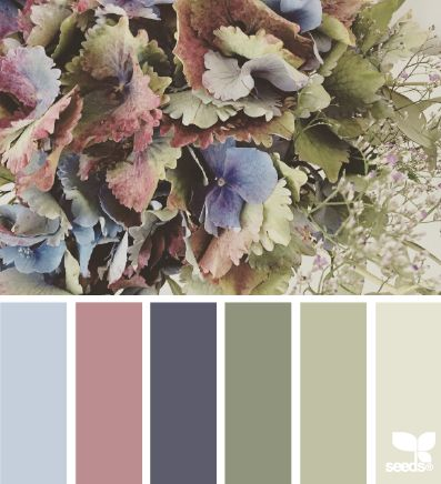 Flora palette - dining room, use with vintage gardening supplies