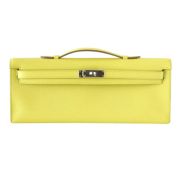 best affordable purses - hermes kelly cut clutch mykonos shiny porosus crocodile palladium ...