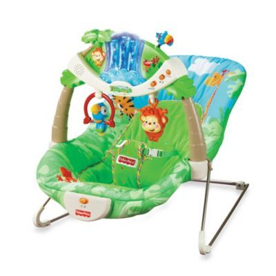Fisher Price® Rain forest™ Bouncer - buybuyBaby.com    This is what I put x so i could shower and eat