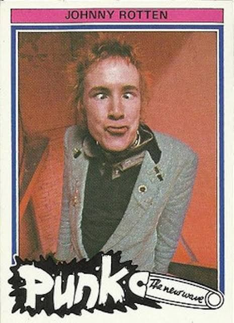 """Johnny Rotten   In 1977 a Dutch company called Monty put out a set of trading cards under the name """"Punk: The New Wave."""" Included in the set were punk-era stalwarts like the Dictators, Blondie, Elvis Costello, the Jam, the Sex Pistols, the Clash, and the New York Dolls; Dutch acts like Gruppo Sportivo and Normaal; and a handful of acts who clearly didn't belong in any set of punk rock cards, like Dwight Twilley and KISS.   In a package you'd get six cards and a bright pink strip of gum…"""