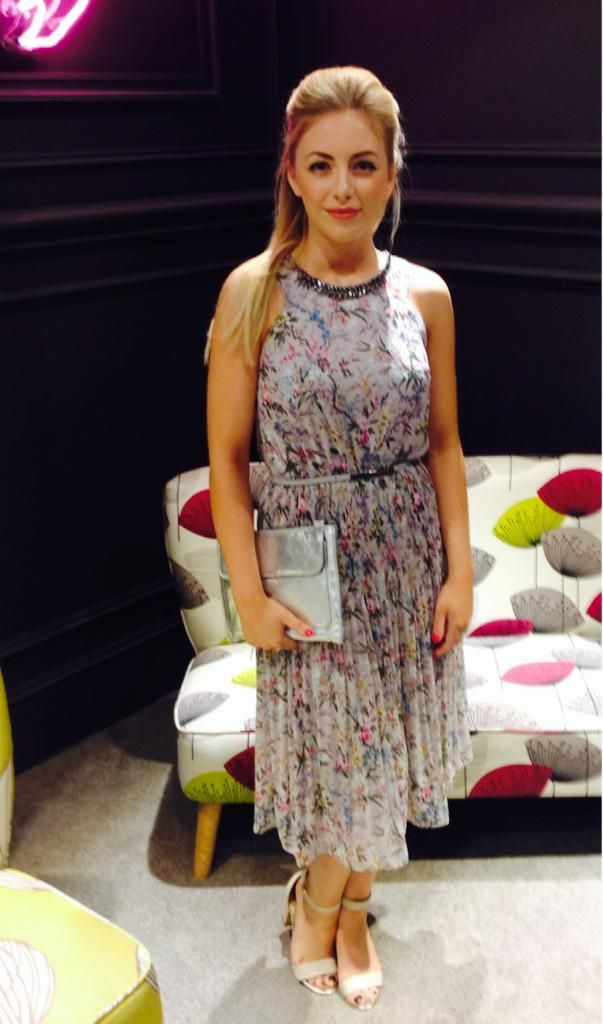 Meadowhall wear the Maltby Midi Dress - part of the V&A Collection #MyLifeInPrint