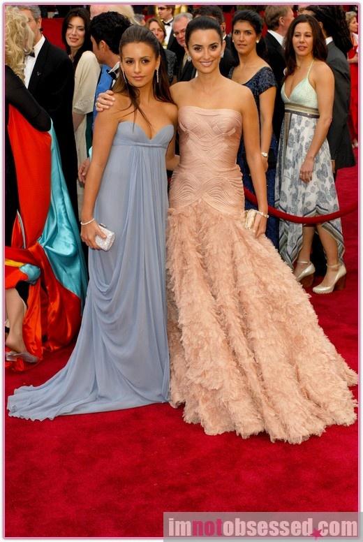 In love with Monica Cruz's powder blue dress.