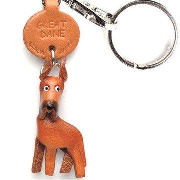 Great Dane Leather Keychain <3 if only they came in blue!