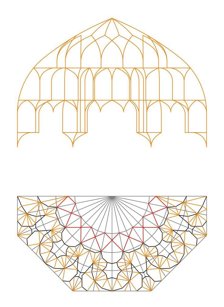 A simple Persian Muqarnas design steps by: Muhammad Golyar محمد گلیار Drawing and explication by: Ali Reza Sarvdalir (3/4)