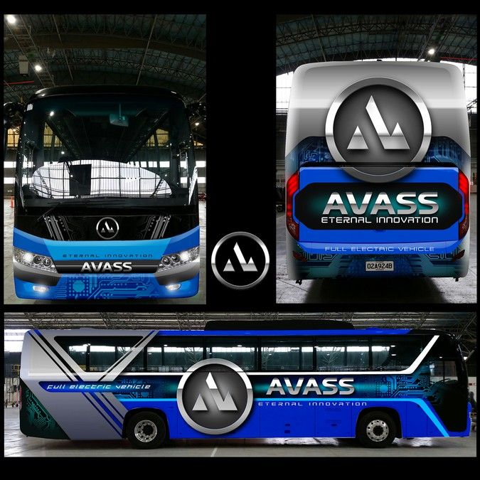 Electric Vehicle Manufacturer Bus wrap by Ashith mohan