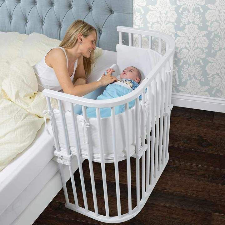 Babybay Bedside Sleeper Crib In Pure White Baby Bed Baby Cribs