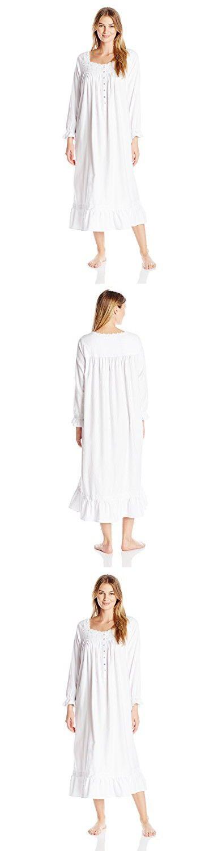 Eileen West Women S Embroidered Flannel Ballet Nightgown