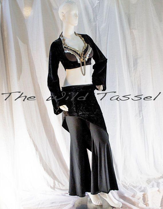 ON vendita Tribal Fusion danza del ventre gonna: di TheWildTassel