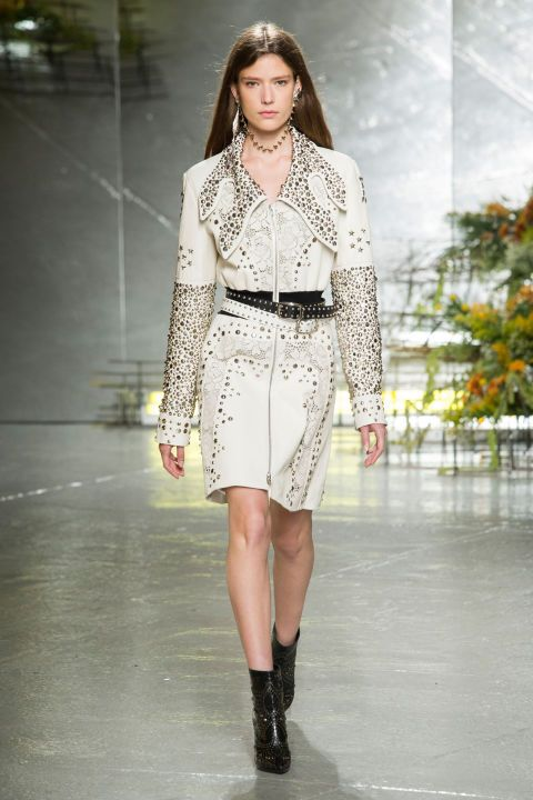 In a collection that was part rhinestone cowboy with embellished and laser cut…