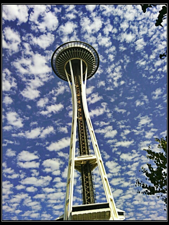Space needle at its 50th birthday bash
