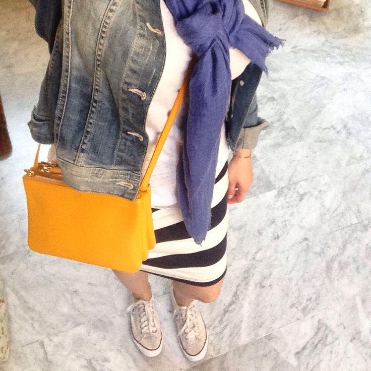 Trio bag and stripes