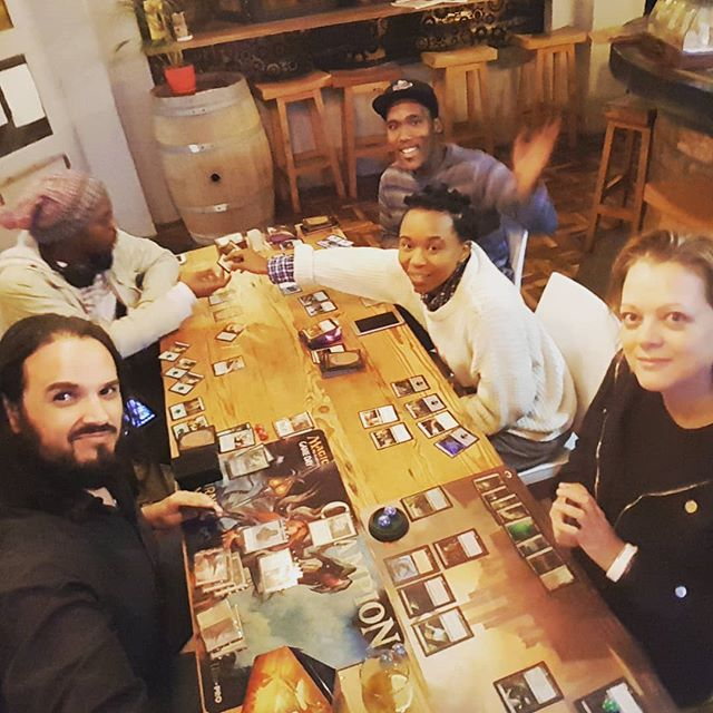 Great coffee amazing burgers and casual Magic. Friday night in Obs! #fnm #magic #commander #geeklifestyle