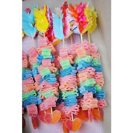 Brochette de bonbons flèche - 10 brochettes de bonbons à croquer - Elle à Table