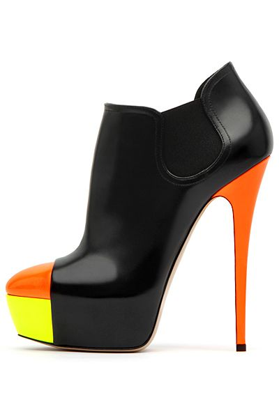 Casadei - Shoes - 2012 Fall-Winter (love the shape of the shoe but the colors remind me of a candy corn!)