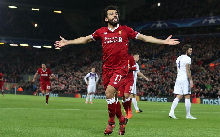 Download wallpapers Mohamed Salah, Egyptian football player, Liverpool, Premier League, England, football