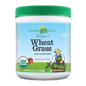Amazing Grass Organic Wheat Grass Powder, 30 Servings, 8.5-Ounce Container