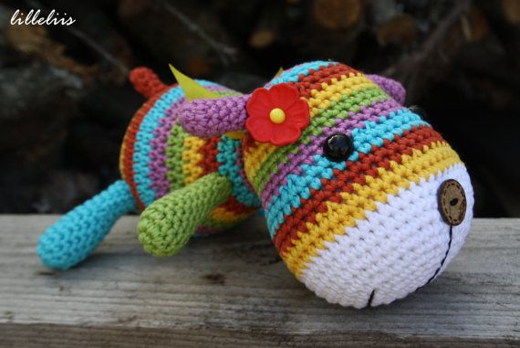 Stripy Sock Puppy By lilleliis - Purchased Crochet Pattern - (etsy)