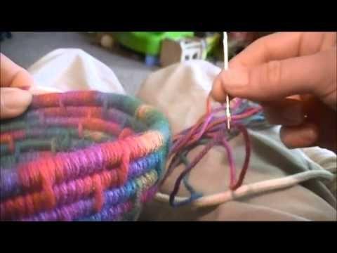 DIY - Cestas de corda e tecido / Baskets of rope and fabric / Cestas de cuerda y la tela - YouTube