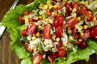 Corn, Crab and Tomato Salad : Oven Love | salads | Pinterest