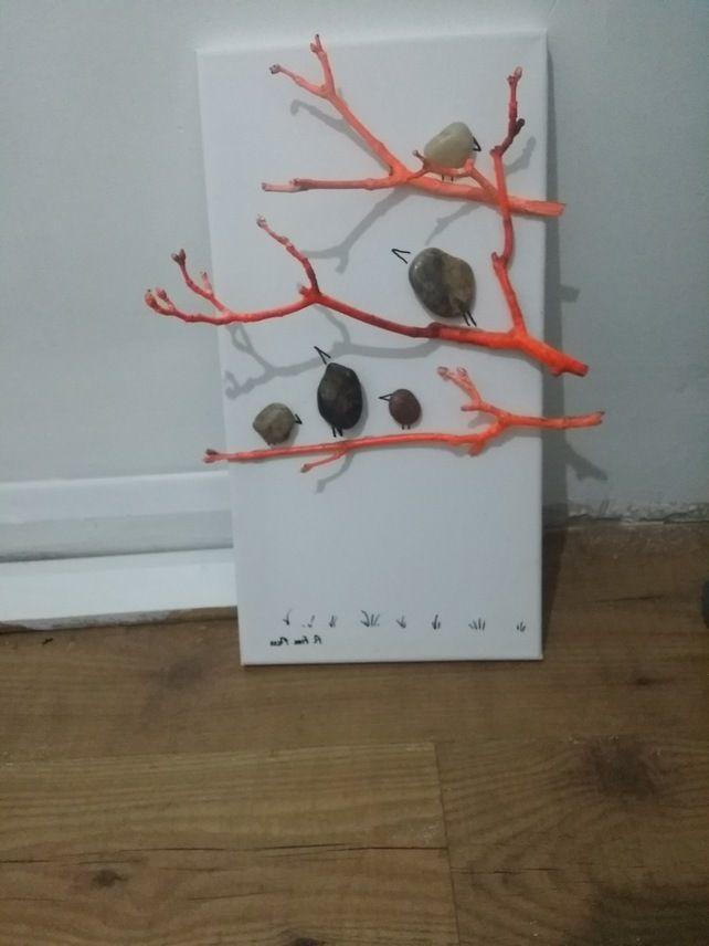Pebble Art -  A Bird In A Tree £15.00