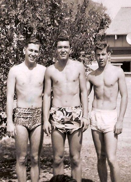 Swim trunks for men really came into their own by the 1950s.