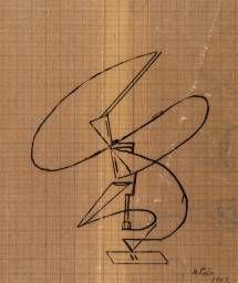 Naum Gabo 'Sketch for a Kinetic Construction', 1922 The Work of Naum Gabo © Nina & Graham Williams/Tate, London 2014