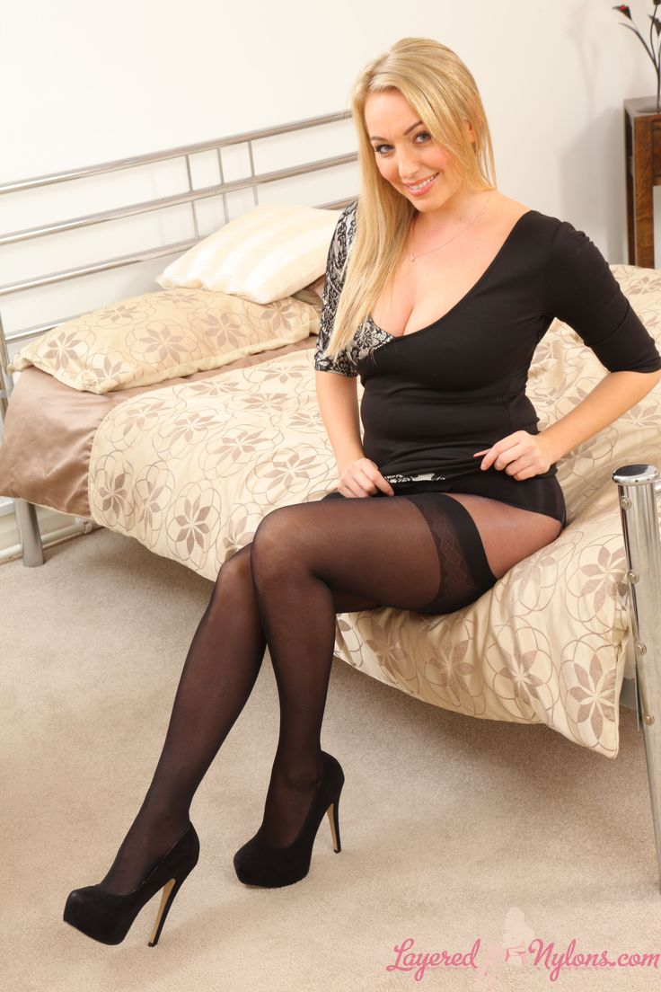 Hayley marie layered nylons