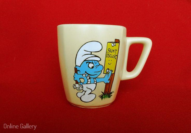 Cana pictata - #Handy #Strumf #smurfs #handmade #painted #art #mug