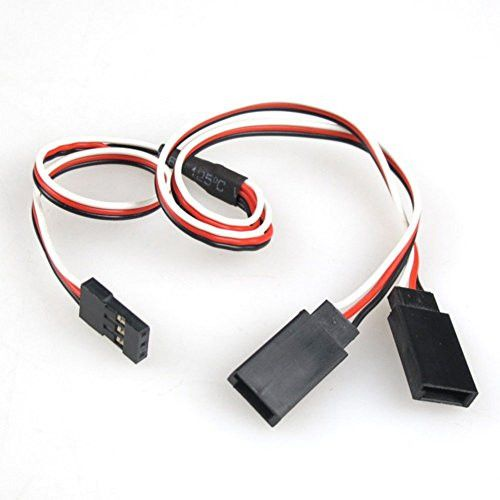 HOBBYMATE 19.7 Length RC Servo Extension Cable Y-Lead 3-Pin Wire Male & Female (5 Cables Pack)