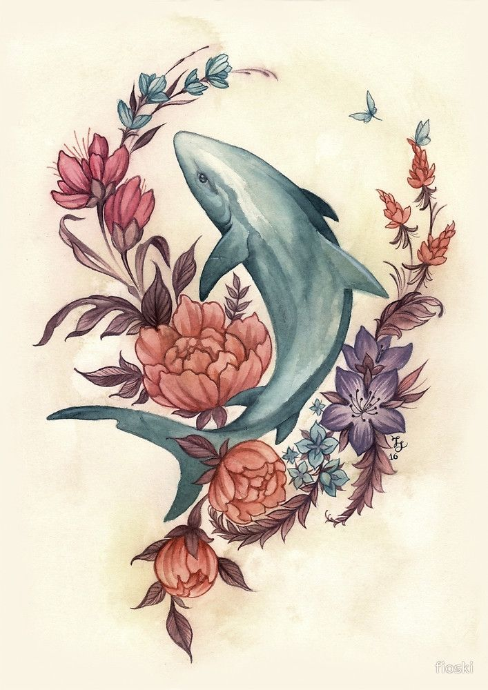 "Floral Shark"" by fioski 